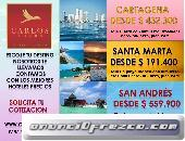 Tour a Cartagena, San Andrés, Santa Marta