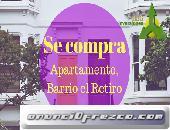 COMPRO APARTAMENTO, BARRIO EL RETIRO