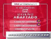 PAGINA WEB + TIENDA ONLINE + VÍDEO + 3 CORREOS GOOGLE