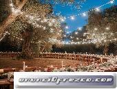 Alquiler de luces de feria o de pueblo para bodas en cartagena