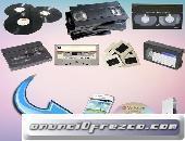 Pasar de VHS, Betamax , Video8 a DVD  en bogota
