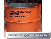 formaleta para fabricación de tubería