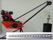 PLUMA GRUA 300 KG MOTOR GASOLINA