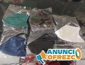 Tapabocas de tela antifluido y quirurgico