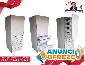 muebles para almacenar insumos clínicos.
