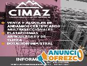 CIMAZ SAS - Alquiler de andamios y maquinaria para trabajo en altura
